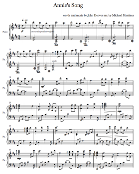 Sheet Music - Michael Martinez - Solo Pianist